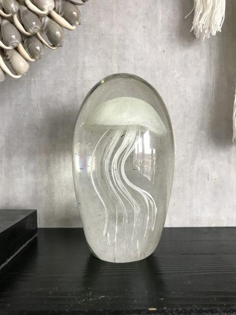 Witte kwallen decoratie van glas