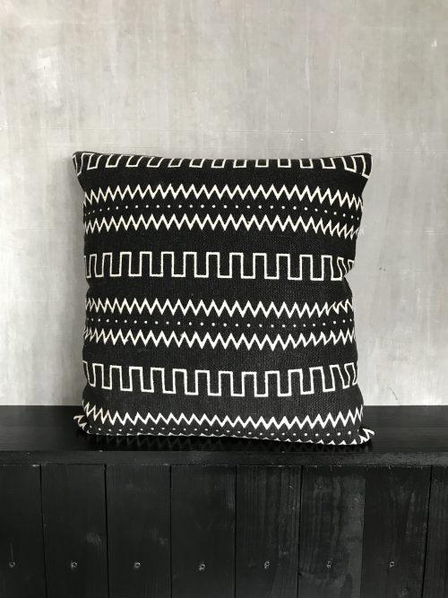 Katoenen kussen met aztek print