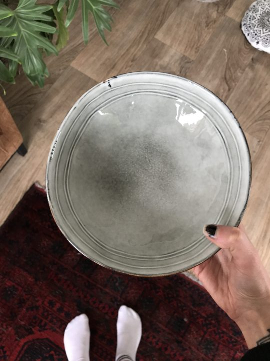 Diep rustieken bord