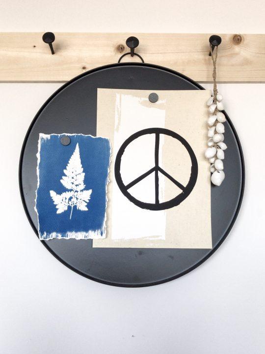 A4 poster peace teken