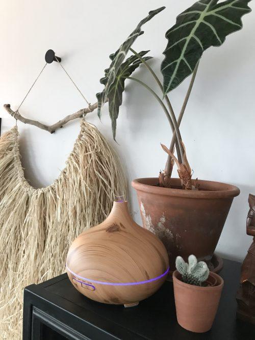 Aromatherapie luchtbevochtiger houten apparaat