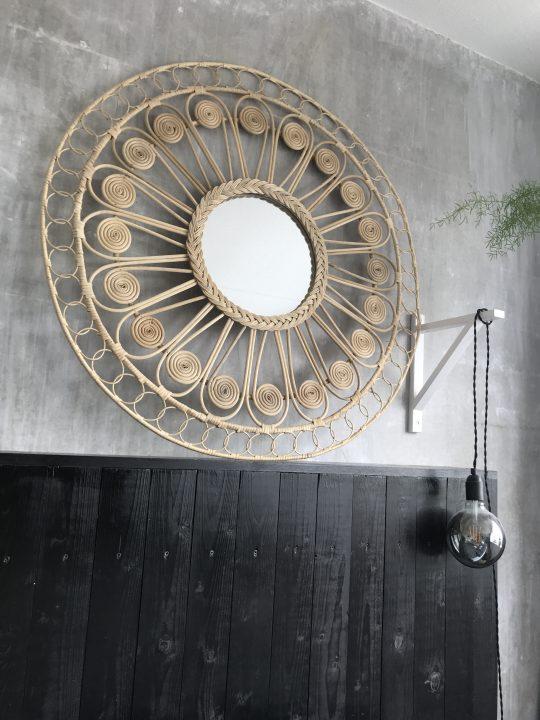 Bohemian inrichting spiegel