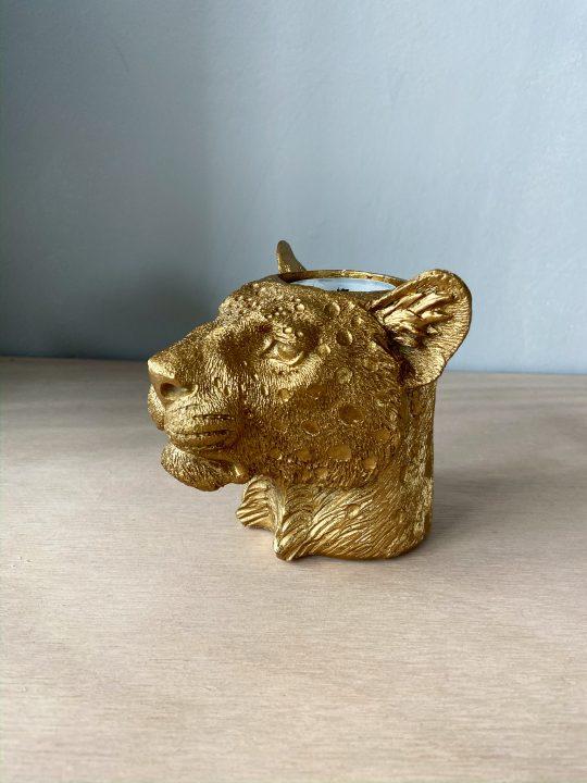panter theelicht goud