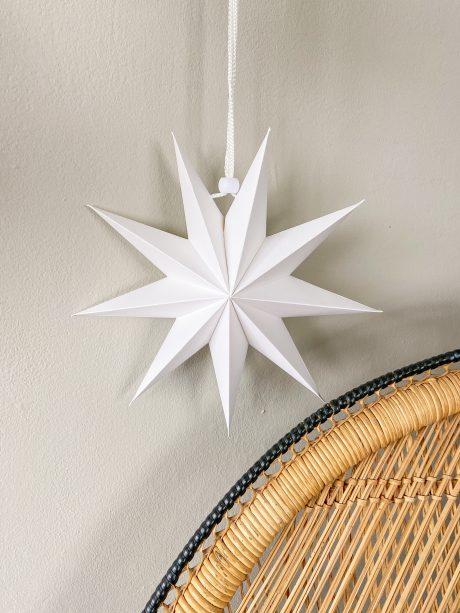 witte papieren kerstster