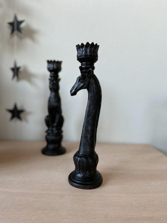 kandelaar giraffe vorm zwart