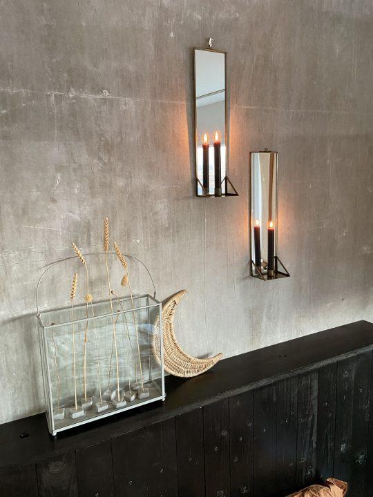 kandelaars met spiegel