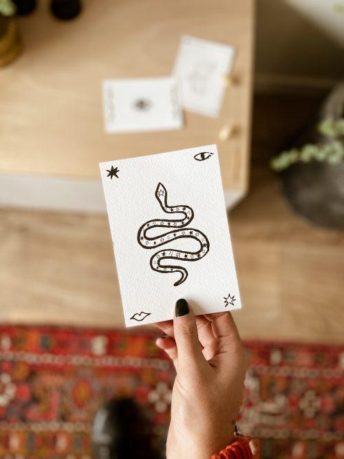 snake poster zwart wit