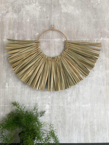 wandhanger van riet cirkel