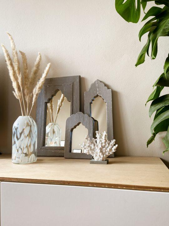 oosterse spiegel hout