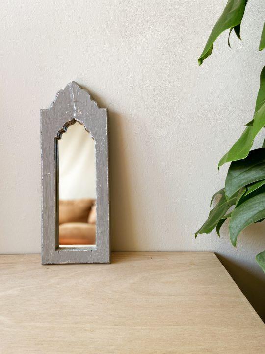 houten spiegel boho