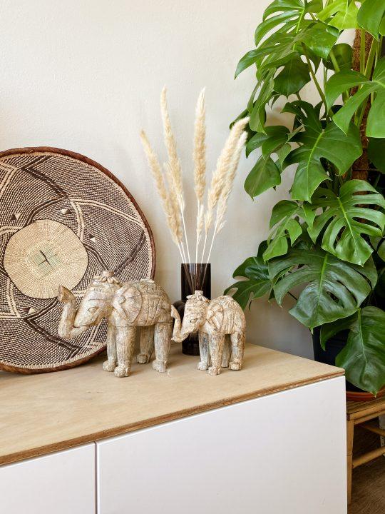 boho decoratie olifant