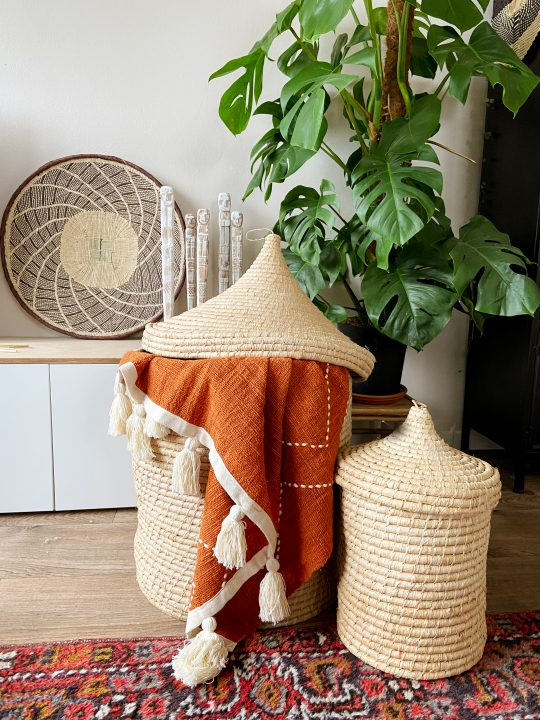 plaid terracotta kleur katoen