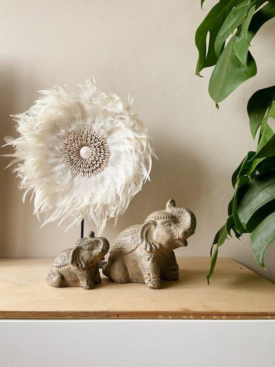 stenen olifanten decoratie beeld