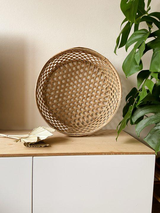 bamboe mand gevlochten