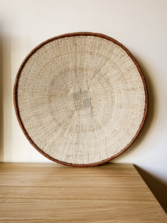 naturel muurdecoratie rond riet