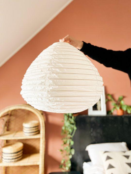 witte lampion lamp katoen