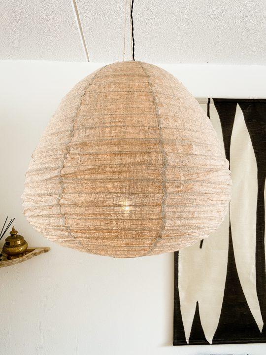 lamp boven eettafel beige