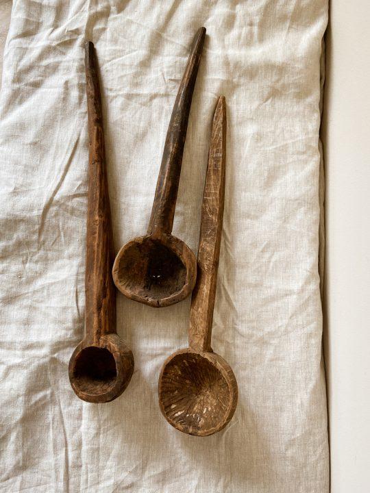 oude houten pollepels